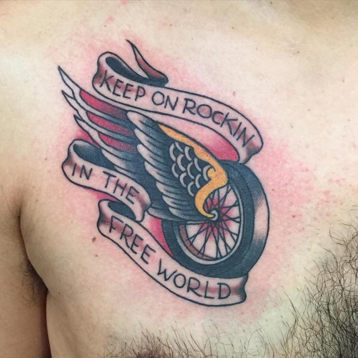 pretty tattoo on chest