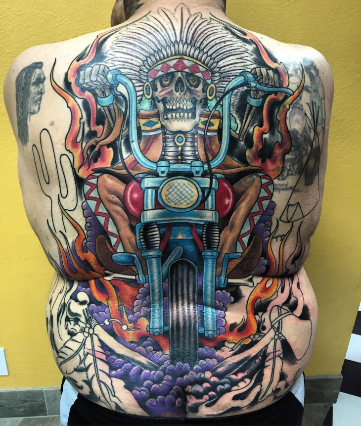 Awesome Back Tattoo for Men