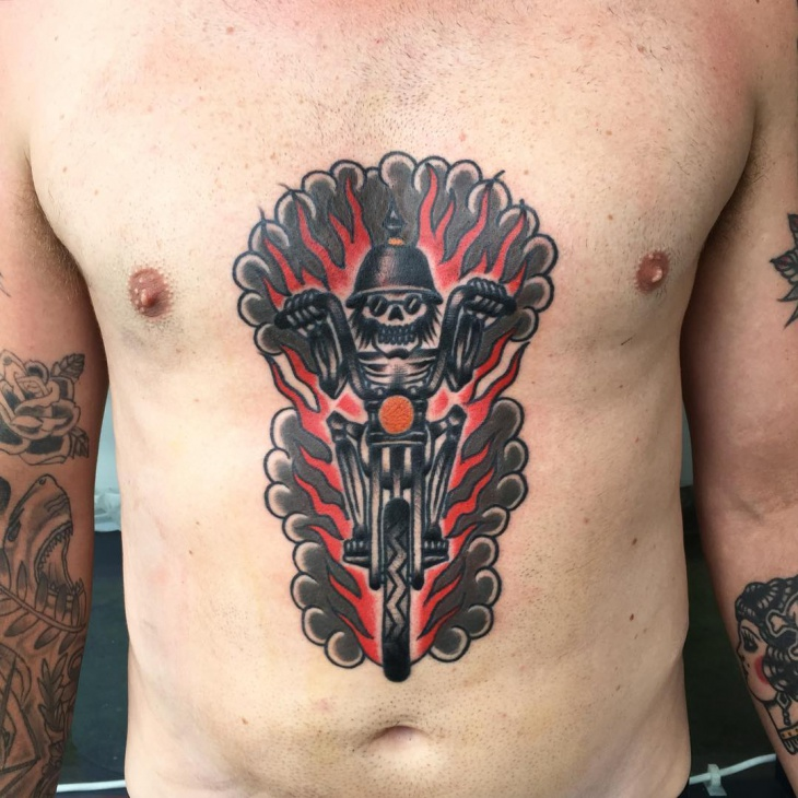 Black and Red Tattoo