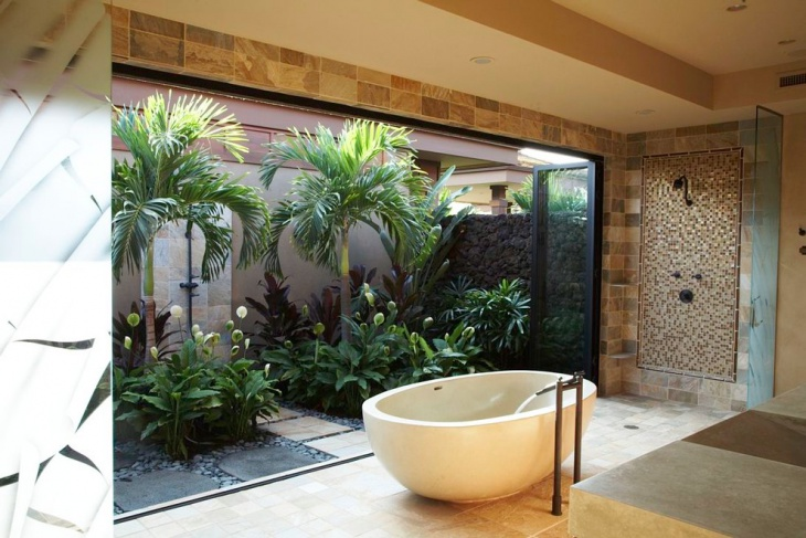 outdoor view bathtub