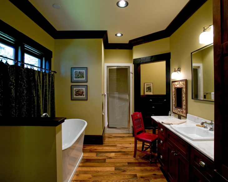 green bathroom with best decor