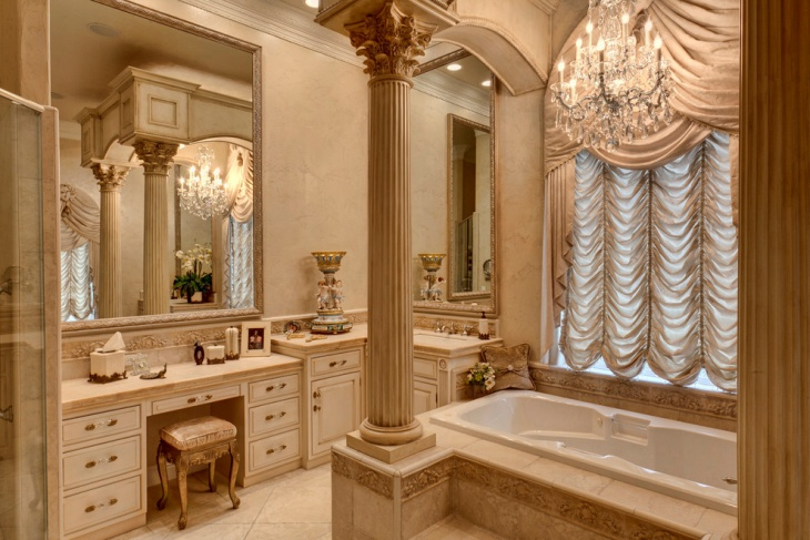 Traditional Bathroom Design Ideas: 20+ Beige Bathroom Designs, Ideas