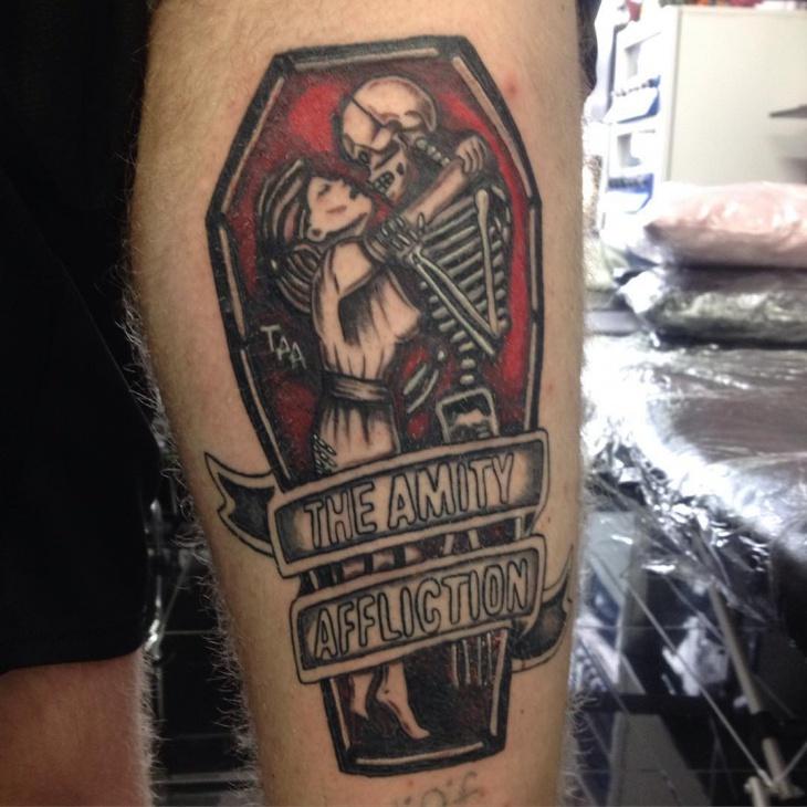 gothic style skull tattoo