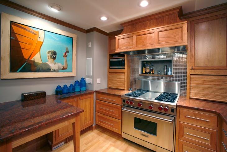 small kitchen wall decor idea