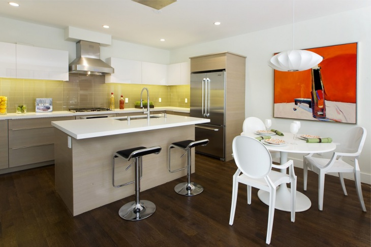 Eclectic Kitchen with Decorative Gallery
