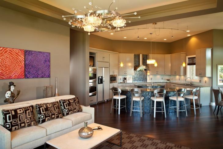 open concept kitchen wall art