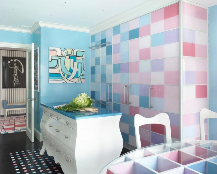 Colorful Kitchen Cabinets Design