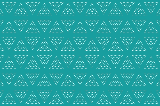 Triangles Dot Seamless Pattern
