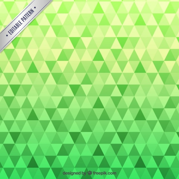Green Triangles Pattern
