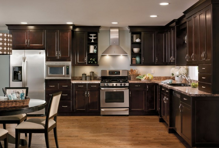 modern brown kitchen cabinet