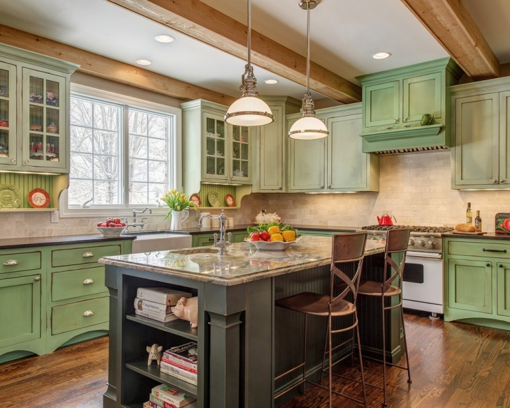 21+ Green Kitchen Designs, Decorating Ideas | Design Trends ...