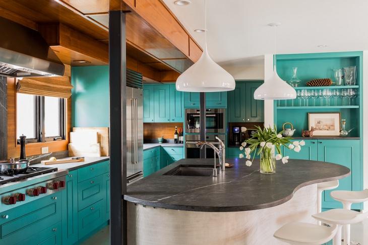 Fabulous Blue Kitchen Cabinets