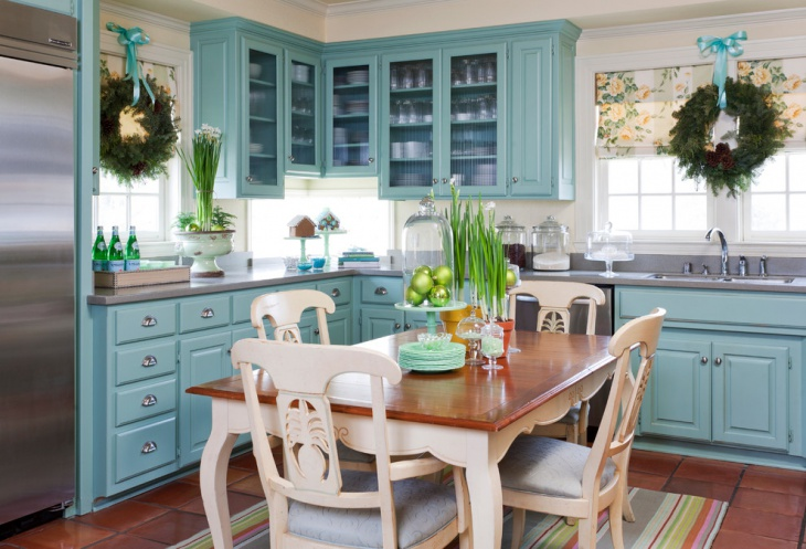 Vintage Style Cabinets for Farmhouse Kitchen
