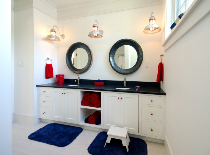 Beau Small Bathroom With Double Vanity