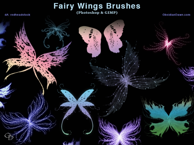 15 Wings Brushes Free ABR Format Download Design Trends
