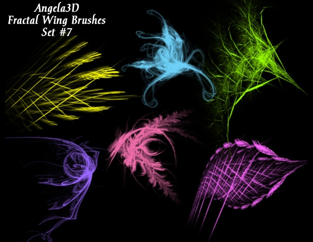fractal wing brushes set