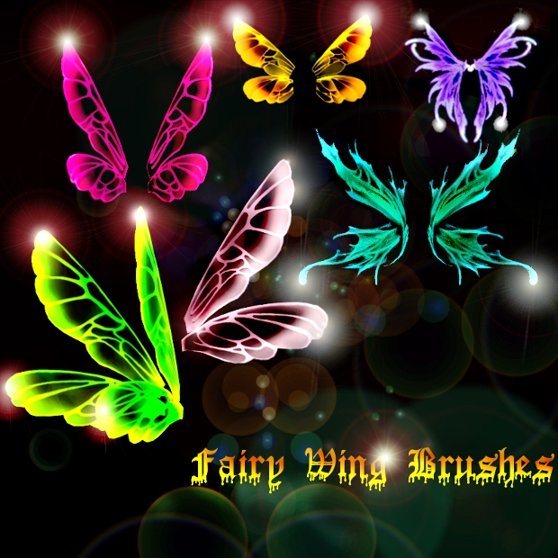 four fairy wings brushes set