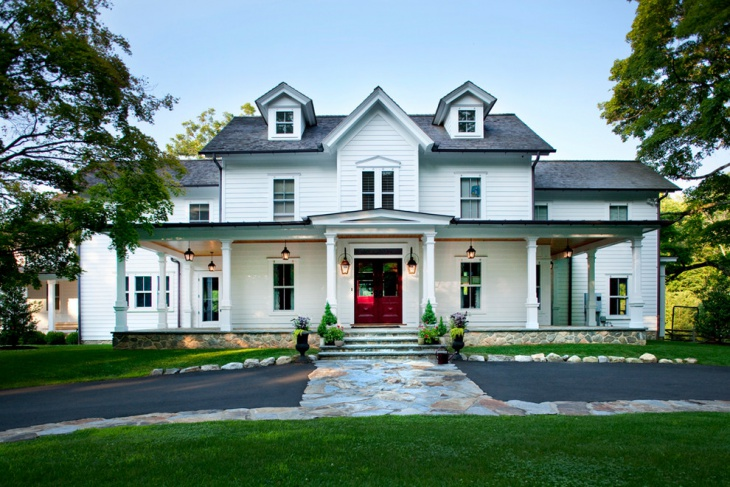 traditional front porch roof idea