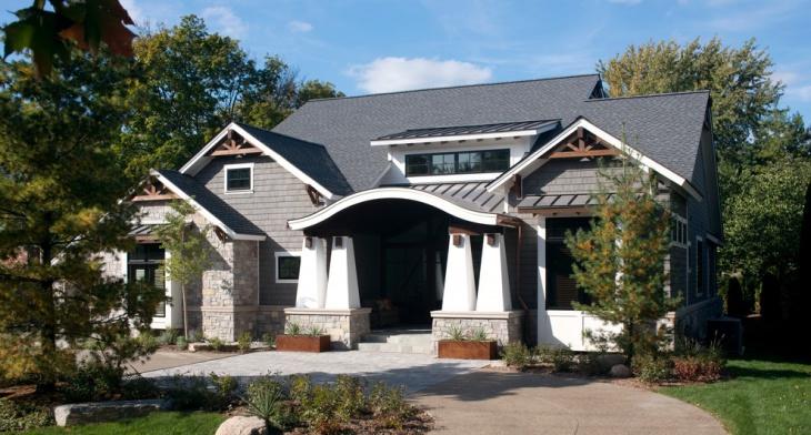 curved fascia porch roof idea