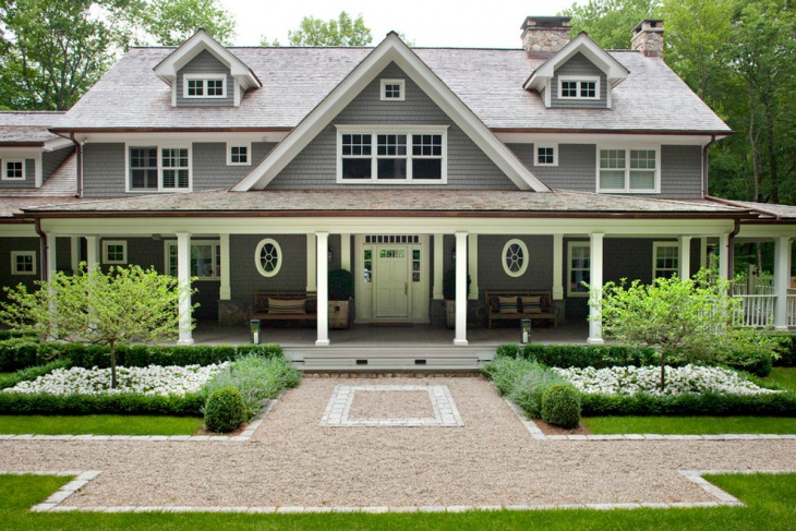 frontyard with porch roof idea