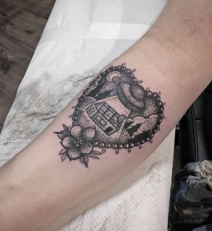 Beautiful Black Work Tattoo
