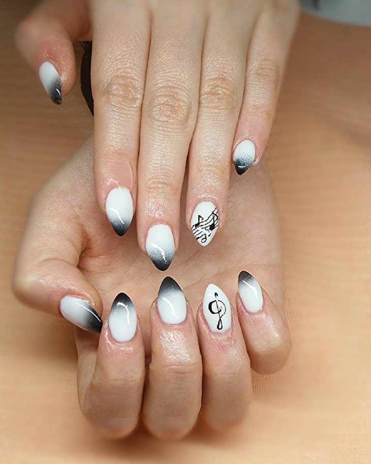 music ombre nail design