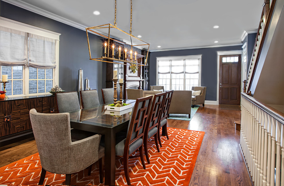 Transitional Dining Room Decorating Idea