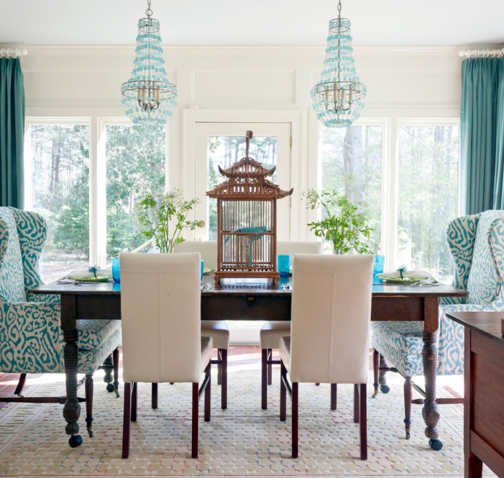 Beautiful Dining Room with Wooden Table
