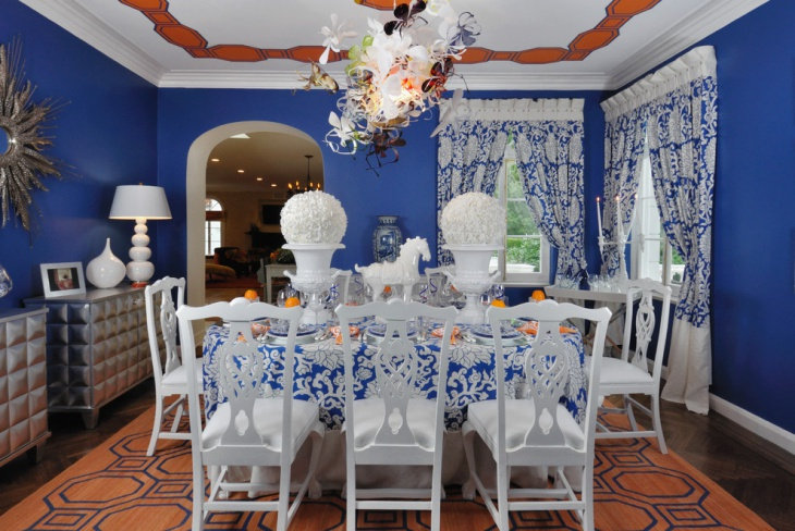 Fabulous Dining Room with White Chairs