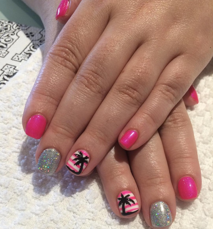 Palm Tree Nail Art Idea