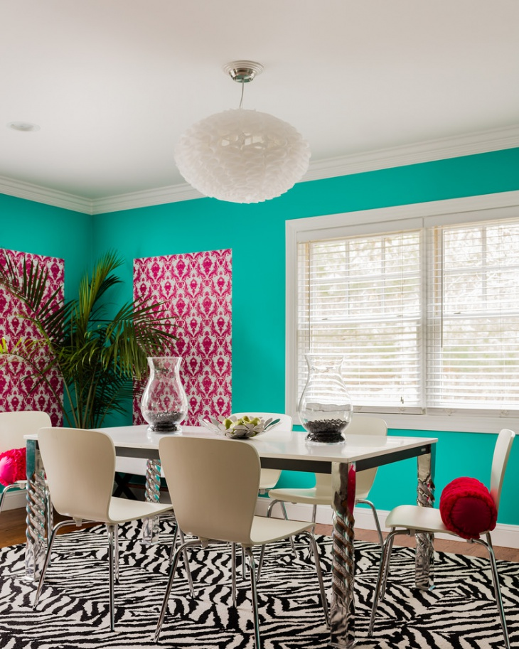 Colorful Dining Room with White Roof