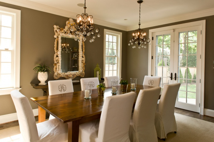 Retro Dining Room with Hanging Lights