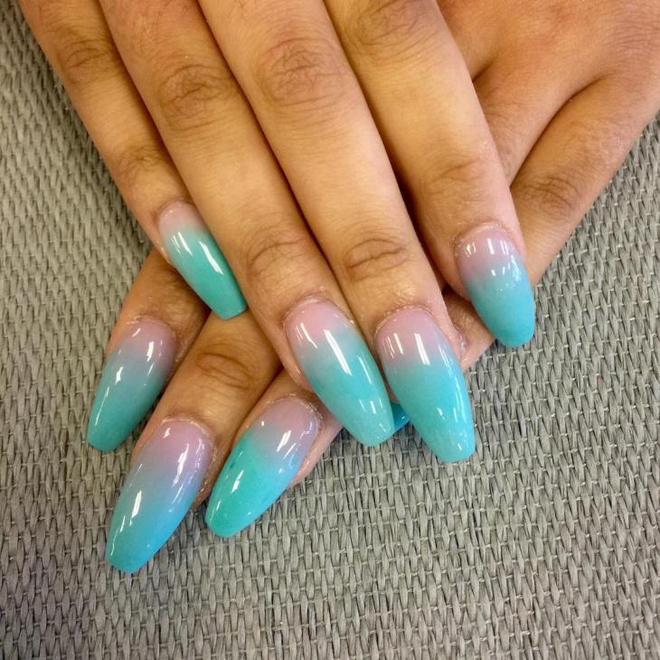 creative ombre nail design