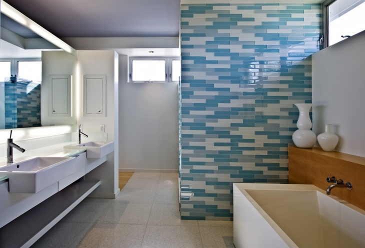 Fantastic 36 Blue And White Bathroom Tile Ideas And Pictures
