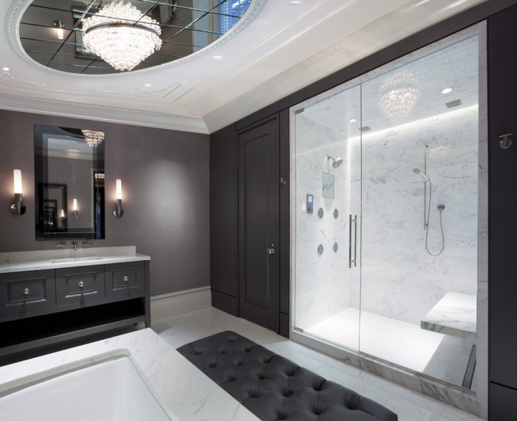 curved bathroom ceiling