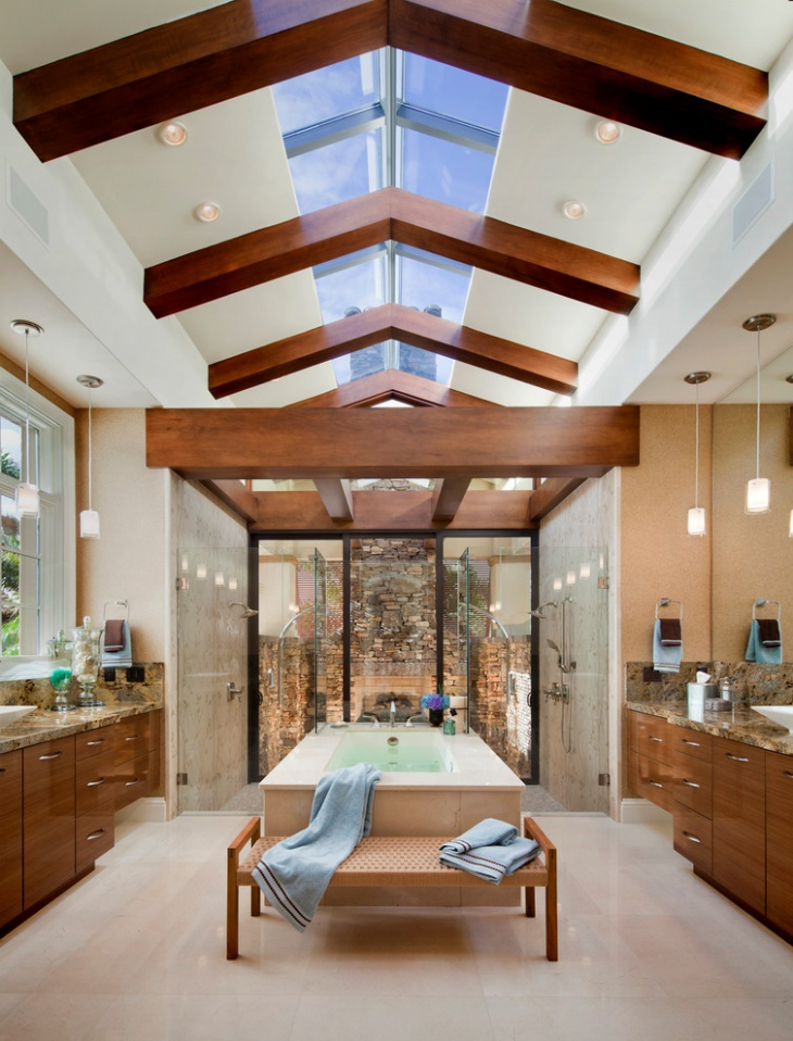 skylight bathroom ceiling