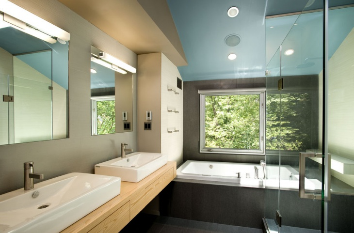 modern bathroom ceiling design