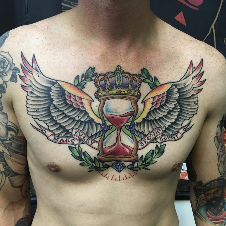 Banner Tattoo On Chest