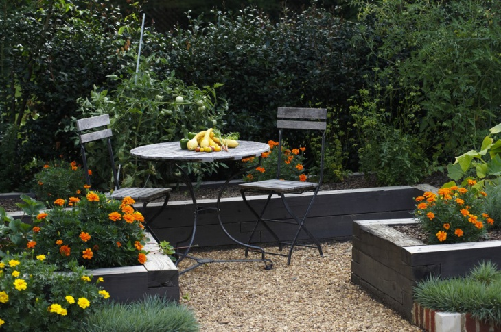 raised flower bed idea