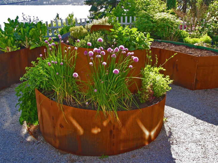 elevated flower beds