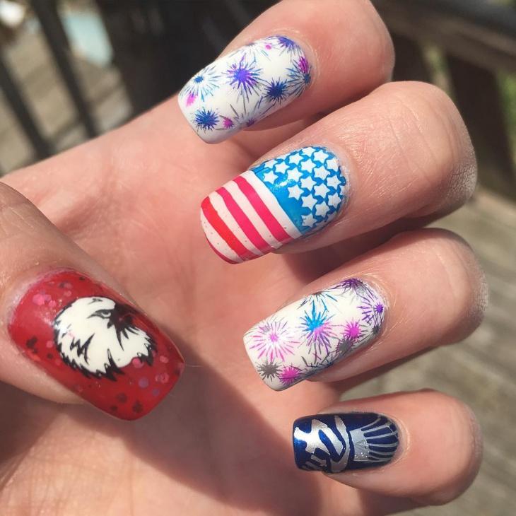 Trendy Mismatched Nail Art