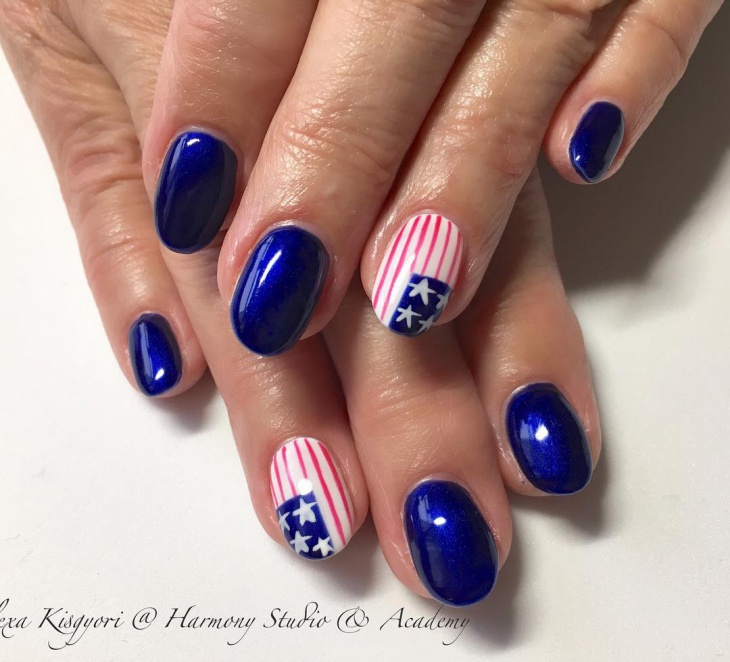 21+ American Flag Nail Art Designs, Ideas