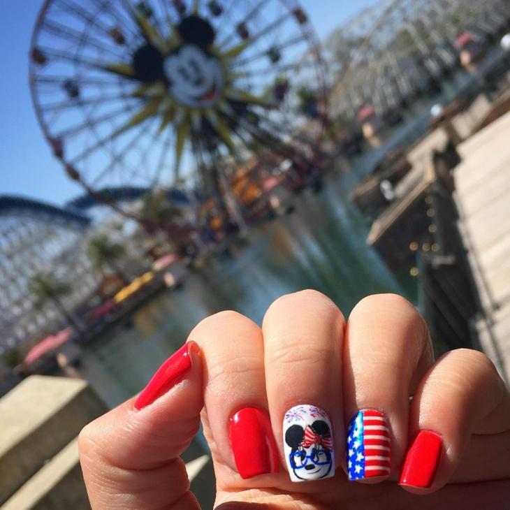 Cute Disney Nail Art Design