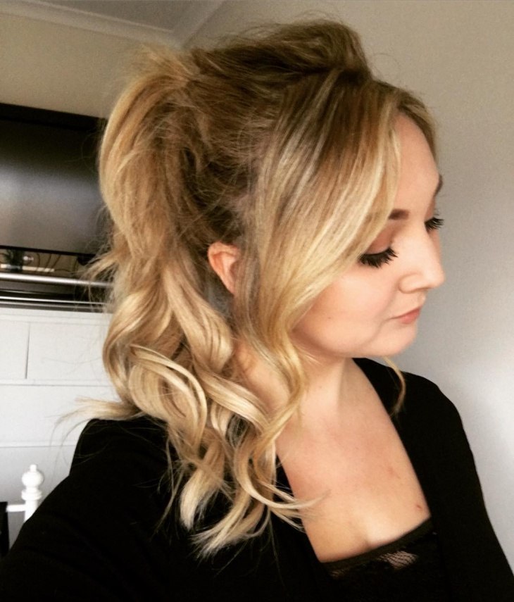 Messy Curls Updo Hairstyle