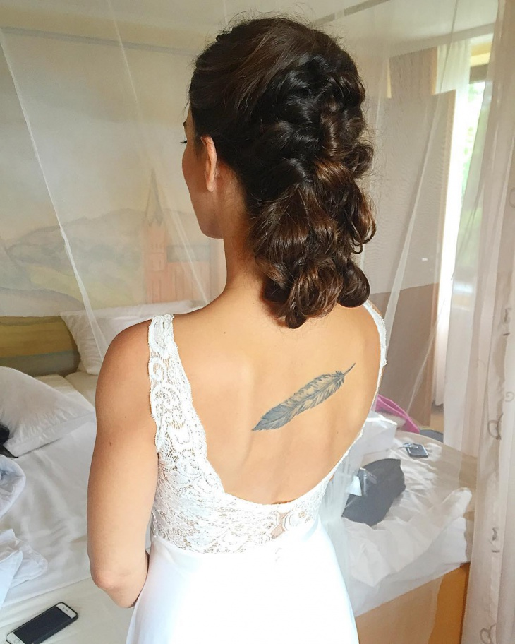 short bridal messy updo