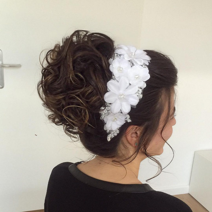 short wedding hair updo1