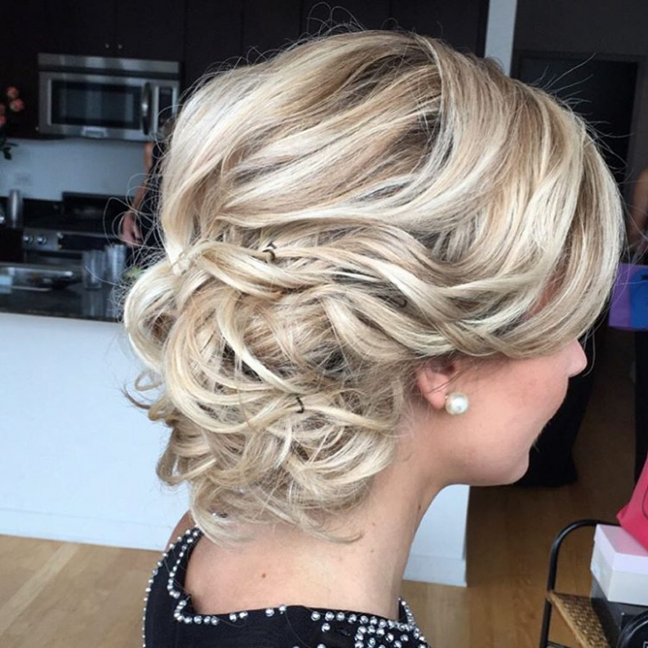 short blonde updo