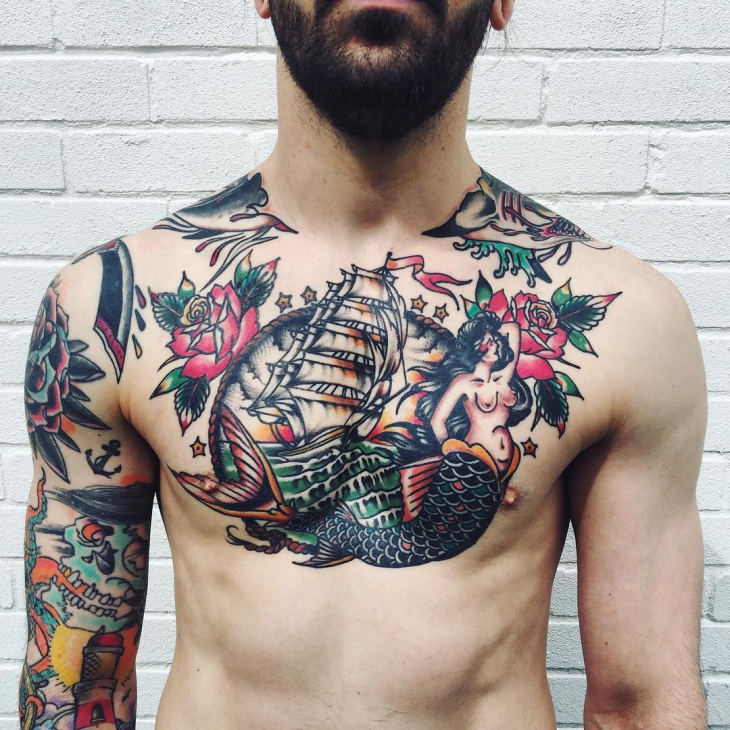 Sailor and Nautical Chest Tattoo