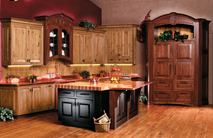 Rustic Kitchen Wall Design Idea