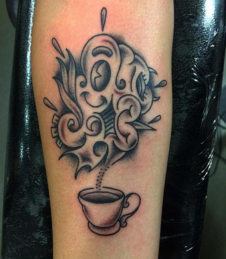 Beautiful Coffee Tattoo Design